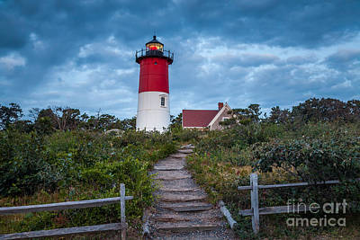 Photograph - Nauset Light With Clouds by Susan Cole Kelly