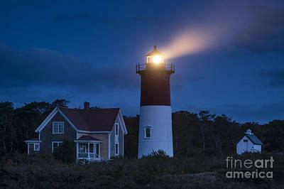 Noreaster Photograph - Nauset Lighthouse Dusk by John Greim