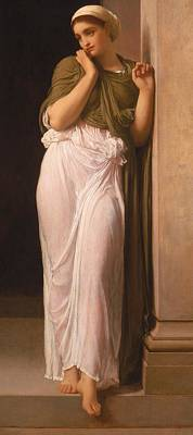Literature Painting - Nausicaa by Frederic Leighton