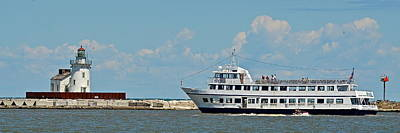 Nautica Queen In Lake Erie Harbor Print by Frozen in Time Fine Art Photography