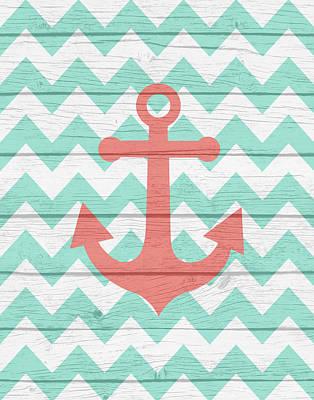 Painting - Nautical Anchor by Tamara Robinson