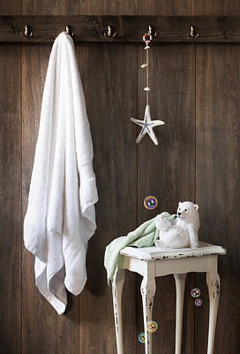 Flannel Photograph - Nautical Bathroom by Amanda Elwell