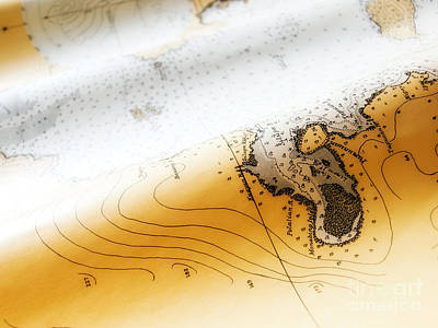 Nautical Chart Photograph - Nautical Chart by Sinisa Botas