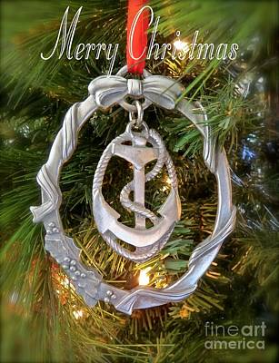 Pewter Ornament Photograph - Nautical Christmas  by Nancy Patterson