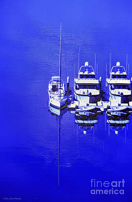 Nautical Reflections Art Print by MaryJane Armstrong