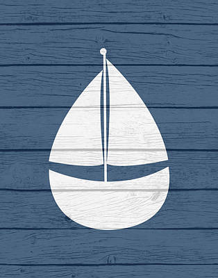 Nautical Sailboat Print by Tamara Robinson