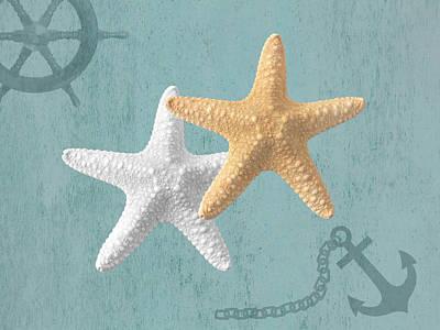 Nautical Stars Art Print by Gill Billington