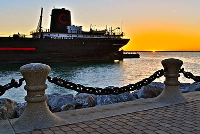 Tremendous Photograph - Nautical Sunset by Frozen in Time Fine Art Photography