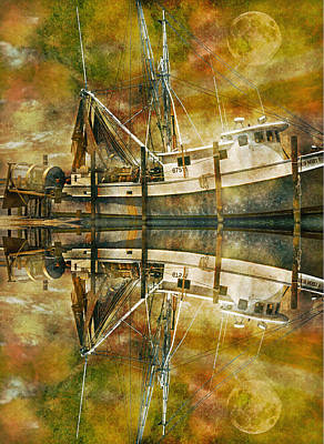 Net Photograph - Nautical Timepiece by Betsy Knapp