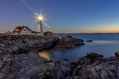 Photograph - Nautical Twilight At Portland Head by Dave Cleaveland