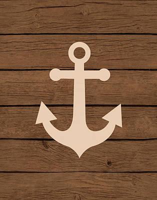 Painting - Nautical Wood Anchor by Tamara Robinson