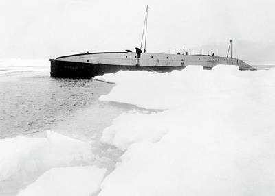 Ice-floe Photograph - Nautilus Submarine In The Arctic by American Philosophical Society