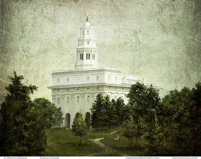 Painting - Nauvoo Temple by Marcia Johnson