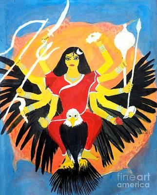 Parvati Painting - Nava Durga Chandraghanta by Pratyasha Nithin