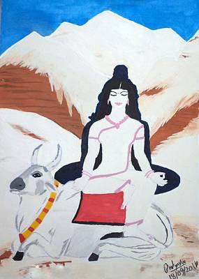Painting - Nava Durga Mahagauri by Pratyasha Nithin
