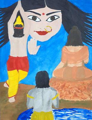 Painting - Nava Durga Siddhidaatri by Pratyasha Nithin
