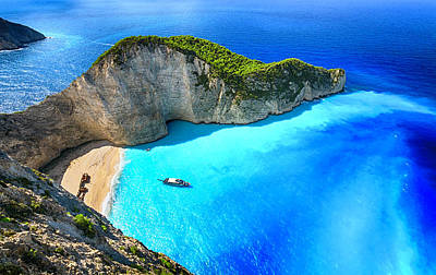 Photograph - Navagio Beach Shipwreck Beach by Rusm