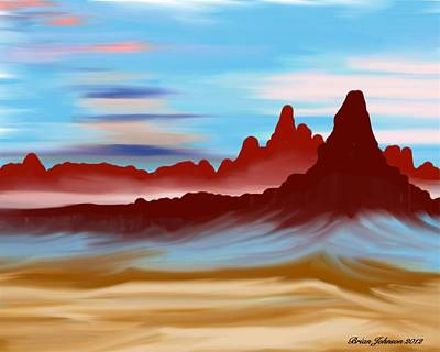 Art Print featuring the digital art Navajo by Brian Johnson