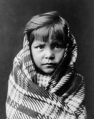 Hunters And Gatherers Photograph - Navajo Child by Aged Pixel
