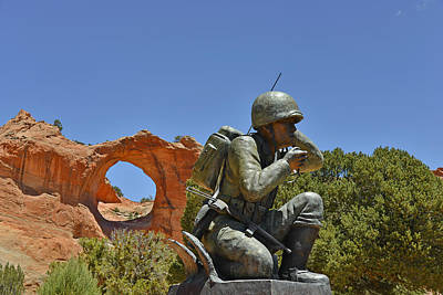 Navajo Code Talker - Window Rock Az Art Print by Christine Till