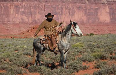Navajo Cowboy Art Print