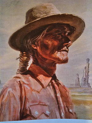 Painting - Navajo Elder by Lane Baxter