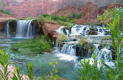 Art Print featuring the photograph Navajo Falls by Alan Socolik