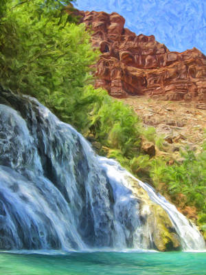 Navaho Painting - Navajo Falls by Dominic Piperata