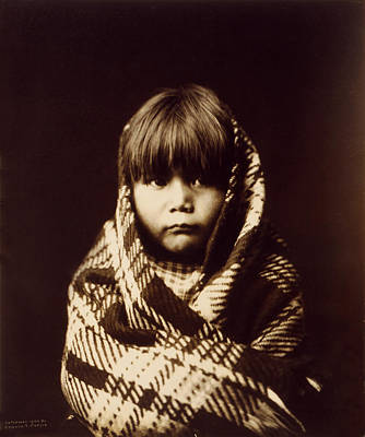 Navajo Children Painting - Navajo Indian Child by Sheila Savage