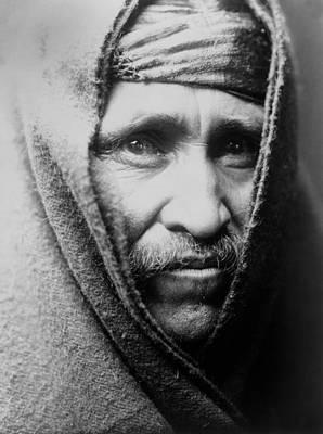 1905 Photograph - Navajo Indian Man Circa 1905 by Aged Pixel
