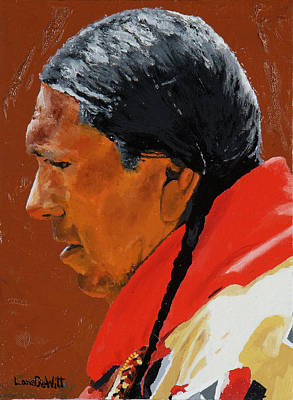 Gallup Painting - Navajo by Lane DeWitt