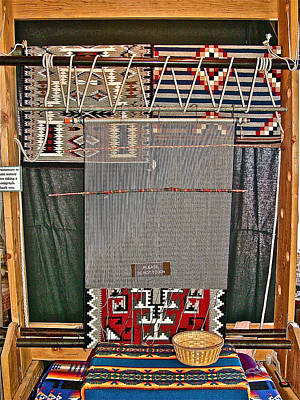 Navajo Loom Inside Desert Watchtower On South Rim Of Grand Canyon National Park-arizona Original by Ruth Hager