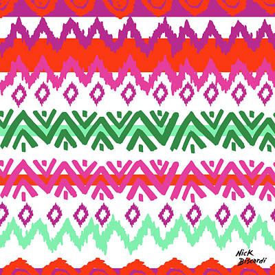 Tribal Wall Art - Digital Art - Navajo Mission Round by Nicholas Biscardi