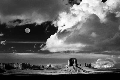 Photograph - Navajo Moonrise by Paul W Faust -  Impressions of Light