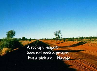 Photograph - Navajo Proverb by Gary Wonning