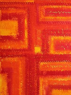 Navajo Rug Original Painting Original by Sol Luckman
