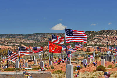 Rest Photograph - Navajo Veteran's Memorial Cemetery Tsehootsooi by Christine Till