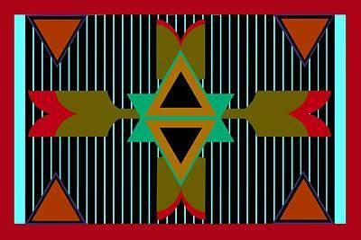 Indian Tribal Art Digital Art - Navajo Wild by Chastity Hoff