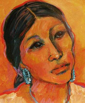 Navajo Woman Art Print