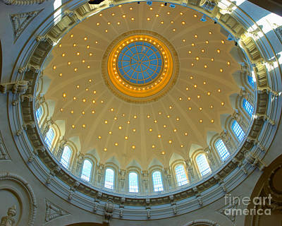 Naval Academy Chapel Side Dome Art Print by Mark Dodd