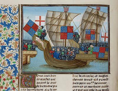 Naval Battle Between France And England Art Print