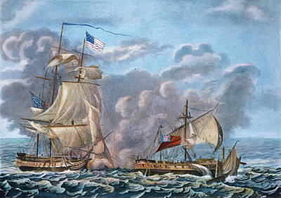 Uss Constitution Painting - Naval Combat, 1812 by Granger