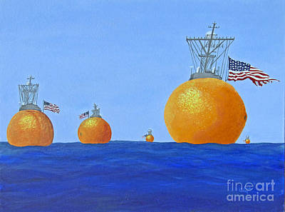 Fruit Painting - Naval Oranges by Cindy Lee Longhini