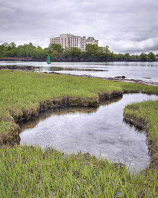 Maine Shore Photograph - Naval Prison by Eric Gendron