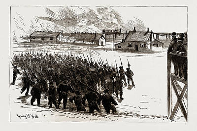 Final Drawing - Naval Sham Fight At Whale Island, Portsmouth by Litz Collection