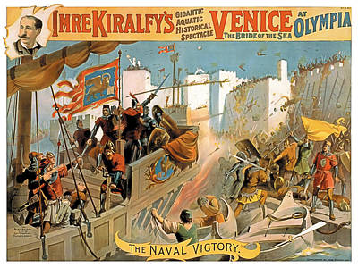 Vintage Poster Painting - Naval Victory by Terry Reynoldson