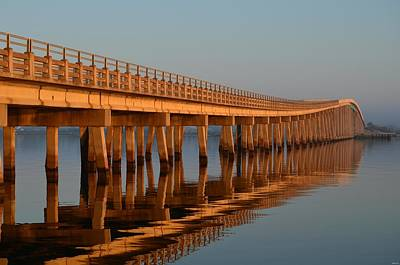 Photograph - Navarre Beach Bridge Sunrise Reflections by Jeff at JSJ Photography