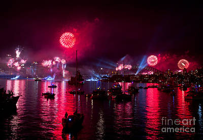 Photograph - Nave Fleet Review Sydney Fireworks by Miroslava Jurcik