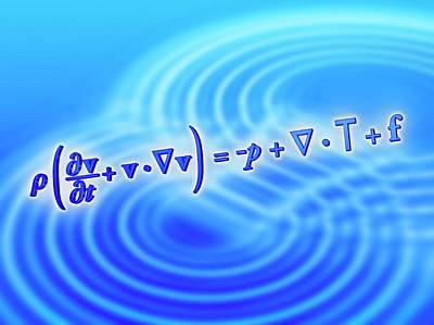 Aerodynamics Photograph - Navier-stokes Equation by Alfred Pasieka
