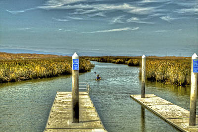 Photograph - Navigating The Marsh by SC Heffner
